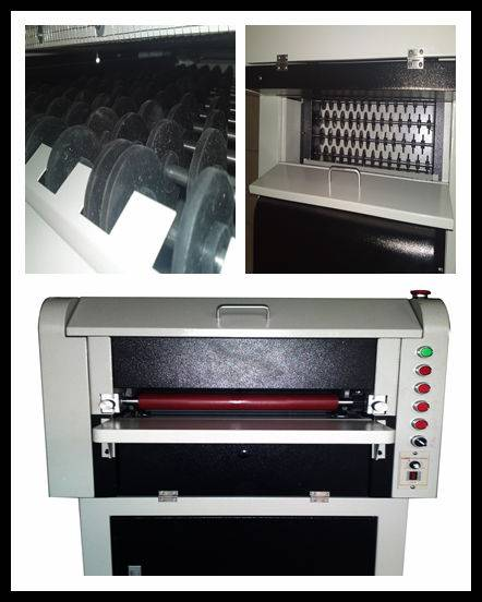 CE 24 inches multi-roller UV embossing machine
