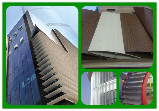 Manufacture Aerofoil architectural exterior louvers aluminium