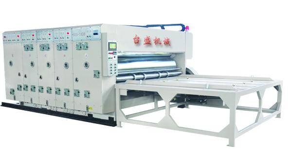 Double color water-based printing slotting machine