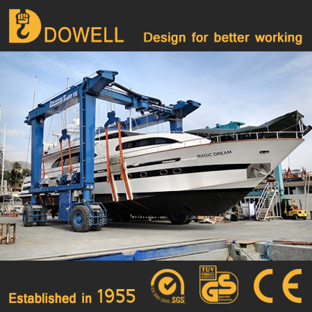 shipyard marine 150 ton travel lift crane