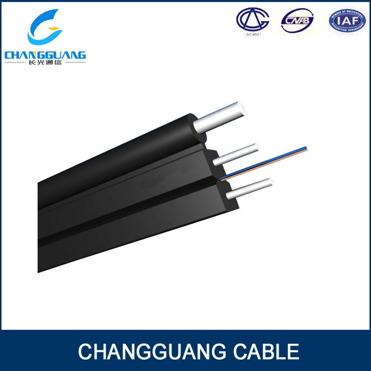 GJYXFCH FTTH Drop Cable Self-Supporting Bow-Type Drop Fiber Optic Cable with Low Smoke Zero Halogon