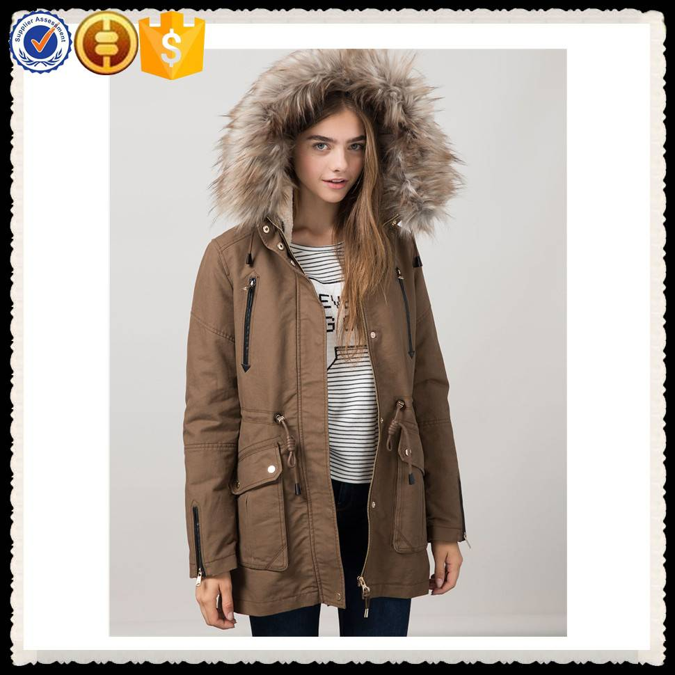 2016 OEM service ladies winter coat with fur hood