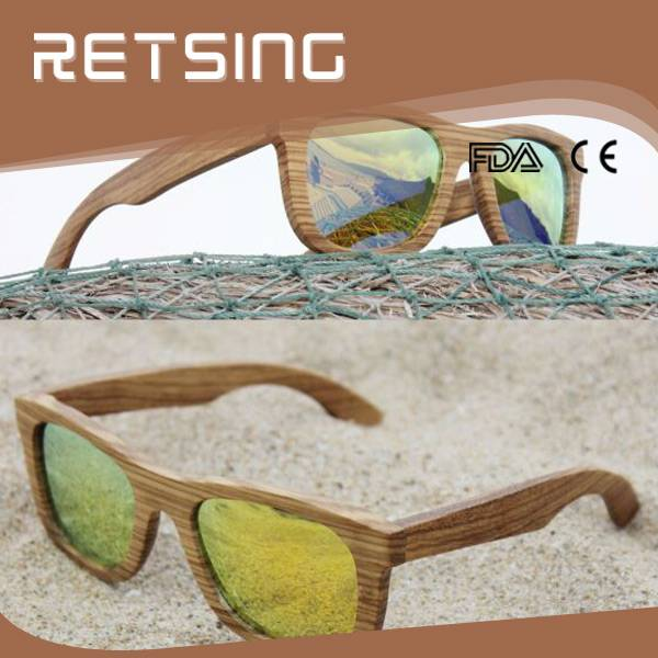 Handmade Zebra Wooden Bamboo Sunglasses with FDA CE Approval