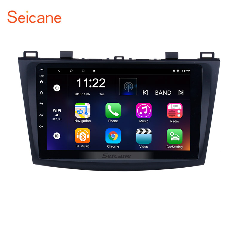 9 inch Touch Screen Android 8.1 Car Radio for 2009 2010 2011 2012 MAZDA 3 with GPS Sat Nav Bluetooth