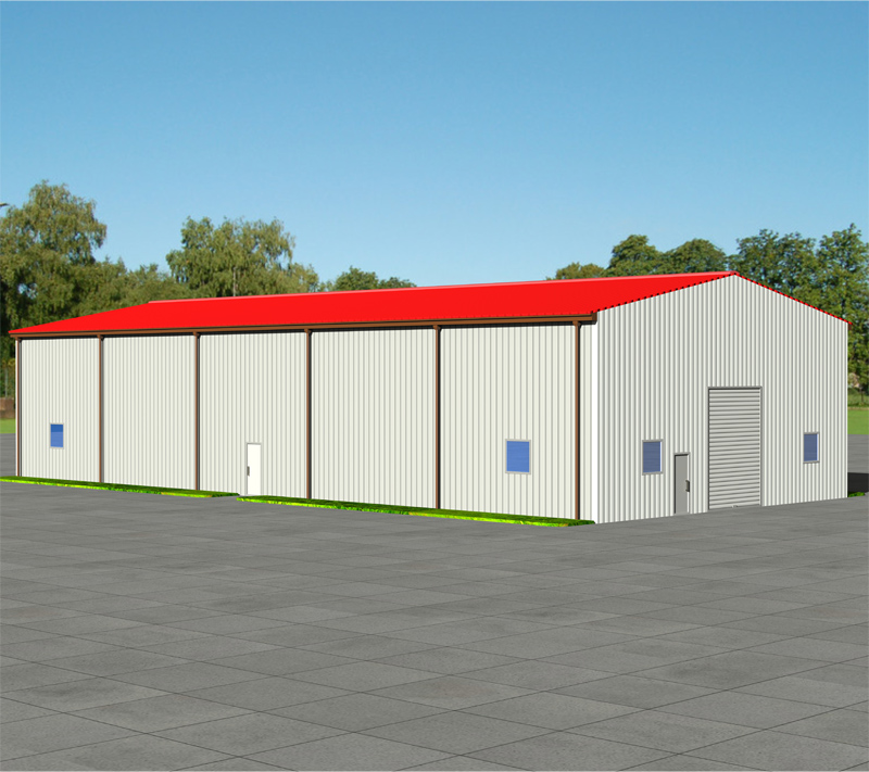EU Standard Conformity light steel structure warehouse prefab cheap modern house
