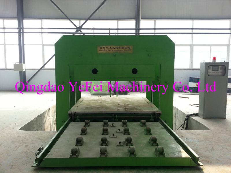 automatic push-pull mould plate vulcanizing machine