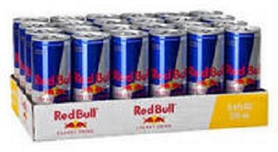 Redbull energy drinks available from Austria