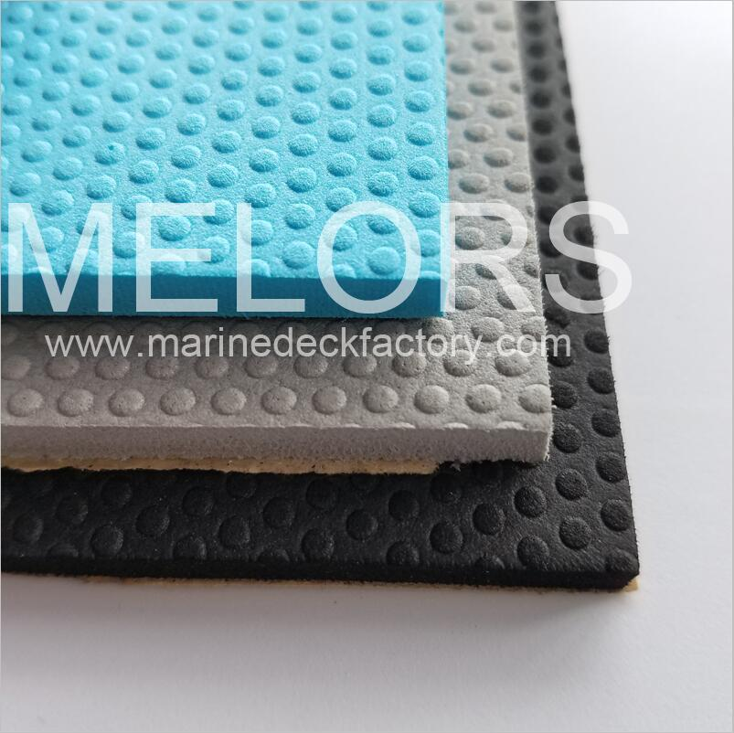 Melors Marine Decking Supply Embossed Dimpled EVA Non-skid Sheet Material