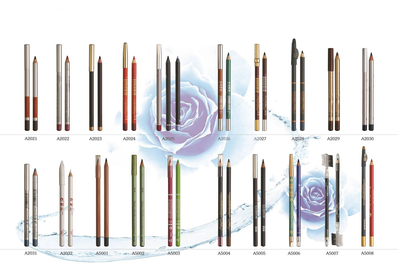 wooden eye lip pencils crayon