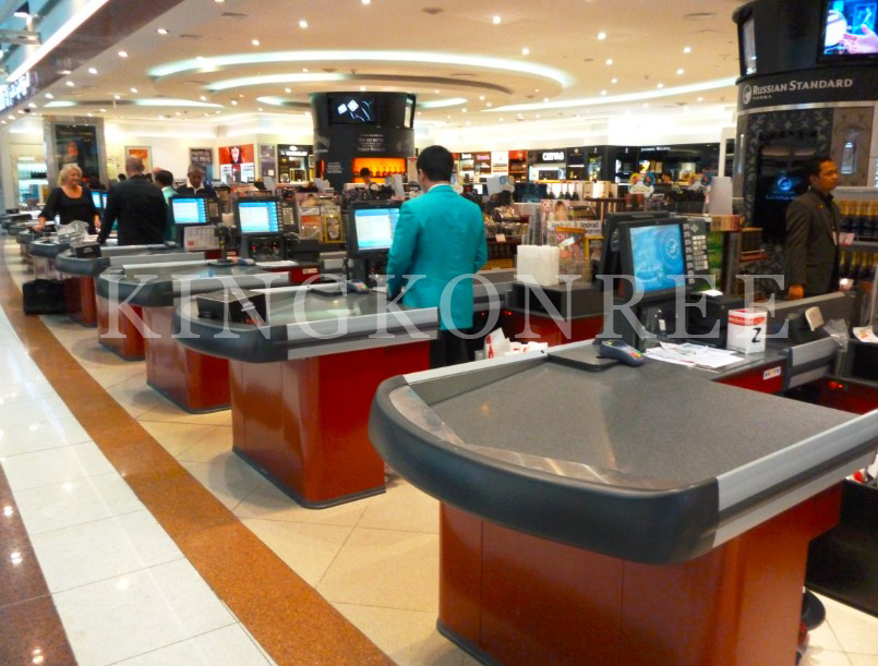 Corian solid surface superstore checkout counters