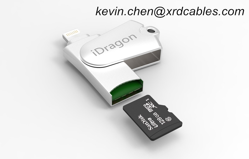 OTG USB memory Card Reader TF card for IPhone 7 6 plus