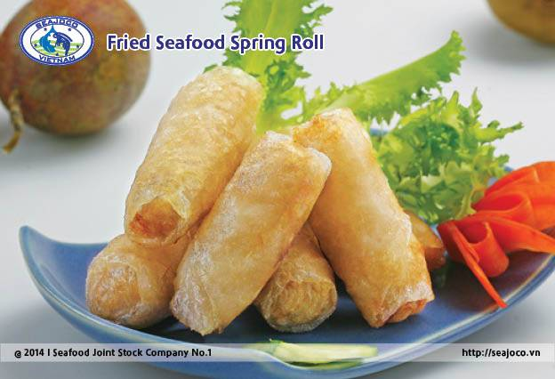 Fried Seafood Spring Roll.