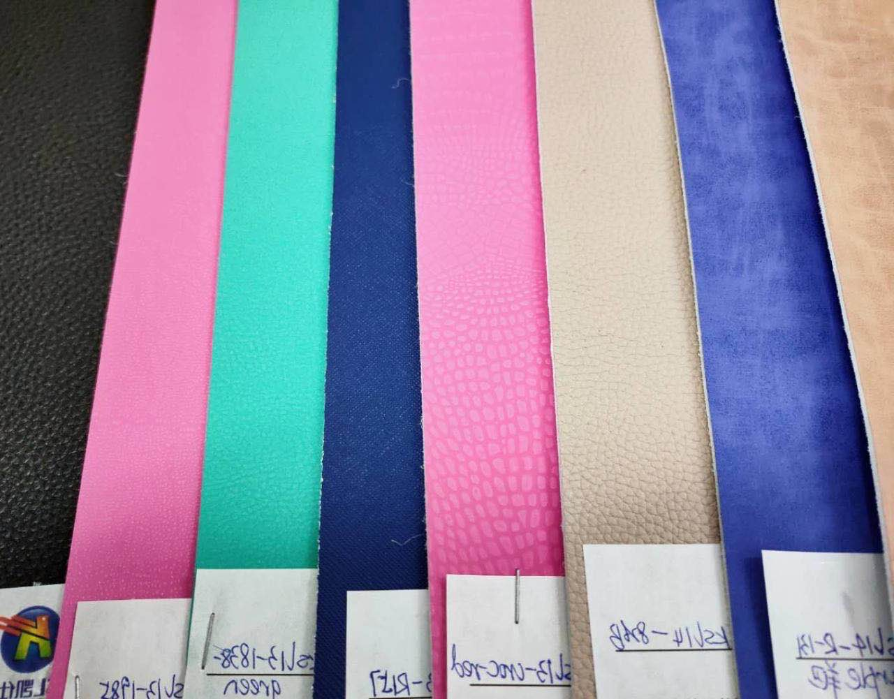 2020 new pattern colorful microfiber vegan leather for shoes