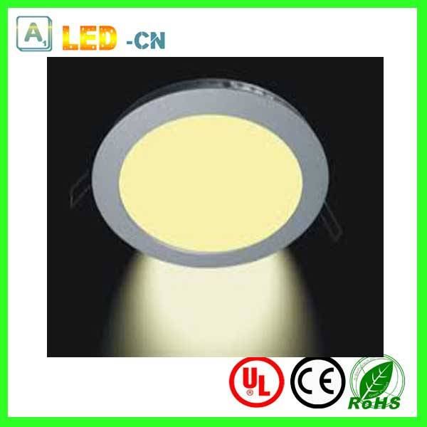 Ultra slim 9W led recessed round panel light