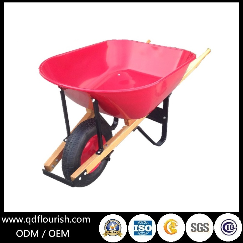 Wooden Handle Wheelbarrow Wh5400 Wheel Barrow Trolley Cart