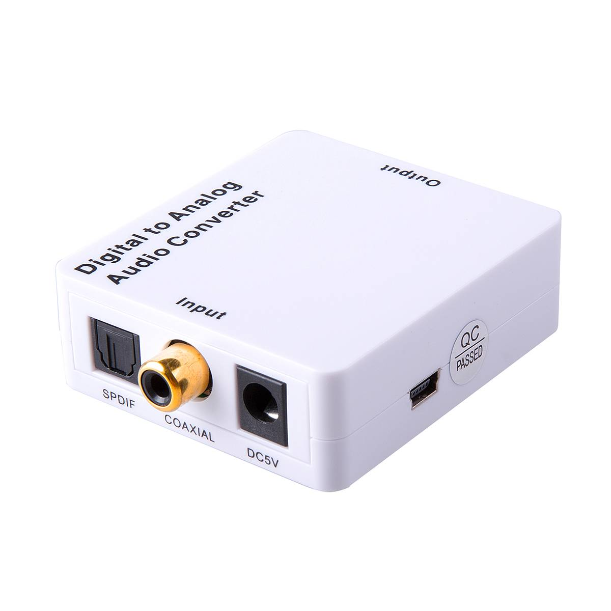 Mini digital to analog audio converter