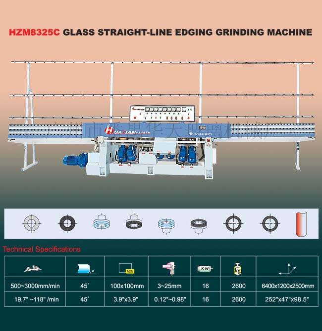 Glass Processing Machine/HZM8325C Glass Straight-Line Edging Machine