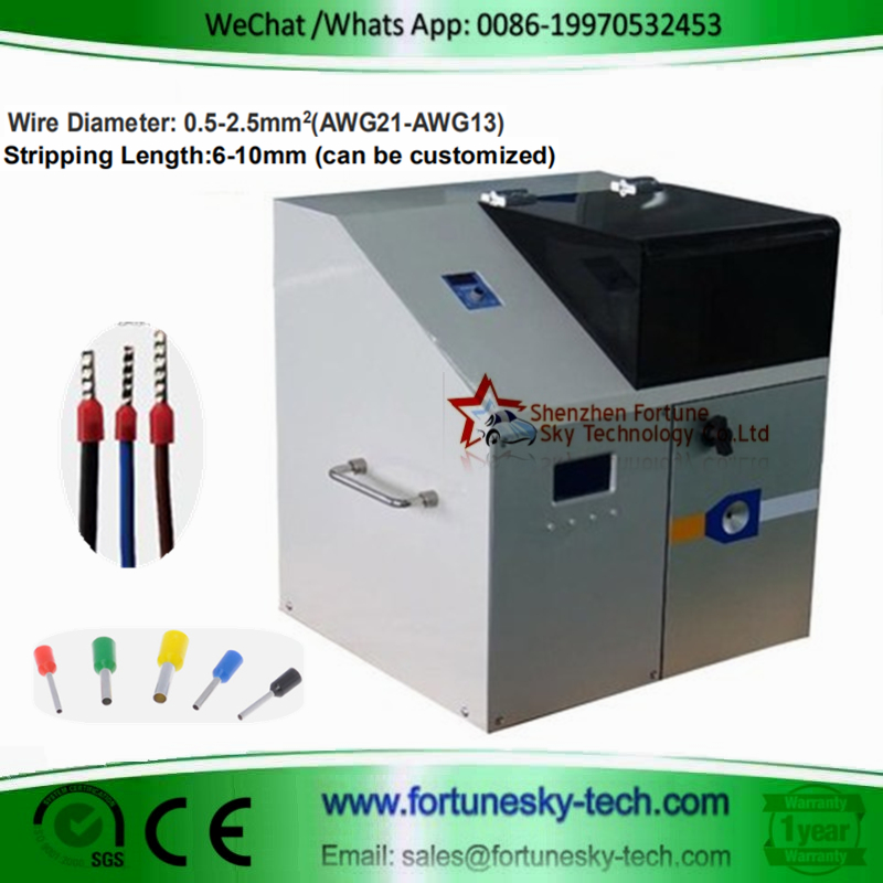 Automatic Wire Threading Stripping Ferrule Crimping Machine