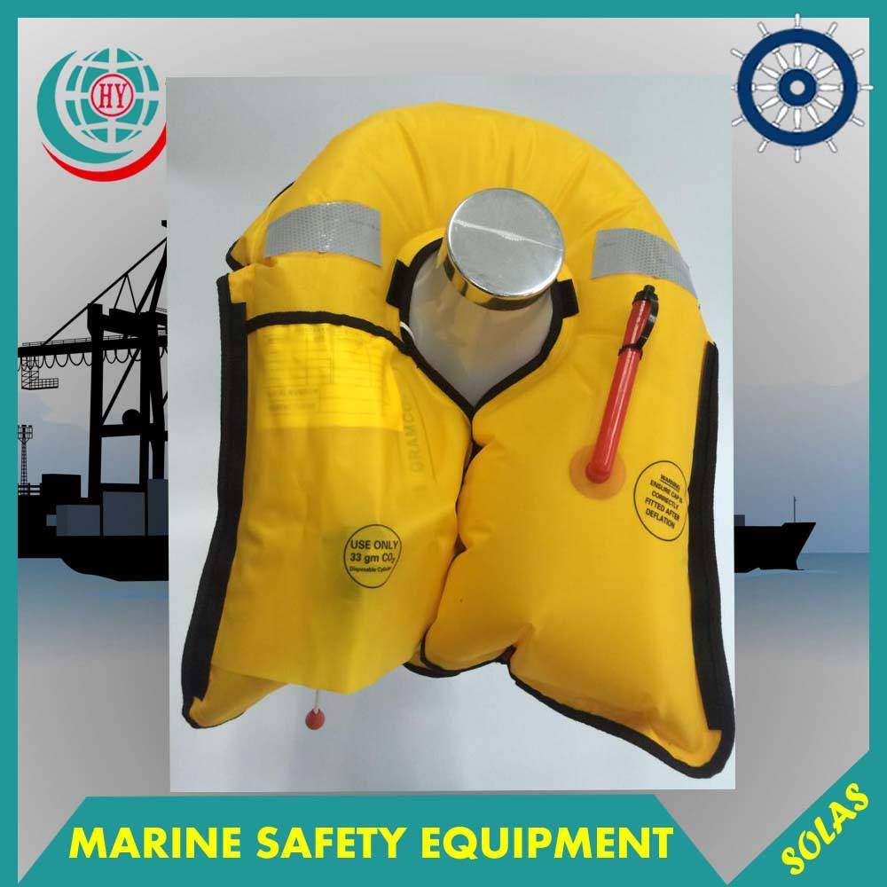 Marine Manual Type Inflatable Life Jacket With Cheap Price,150N