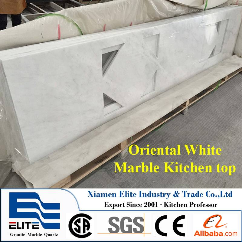 China Oriental White Marble Benchtop Table Top