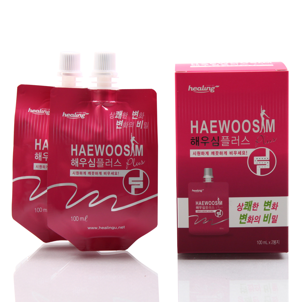 constipation beverage Cool Haewoosim Plus Pouch Mango Flavour
