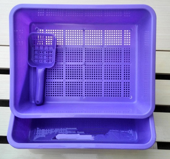 China factory cheap sell sieve litter tray ,cat litter box ,cat litter tray