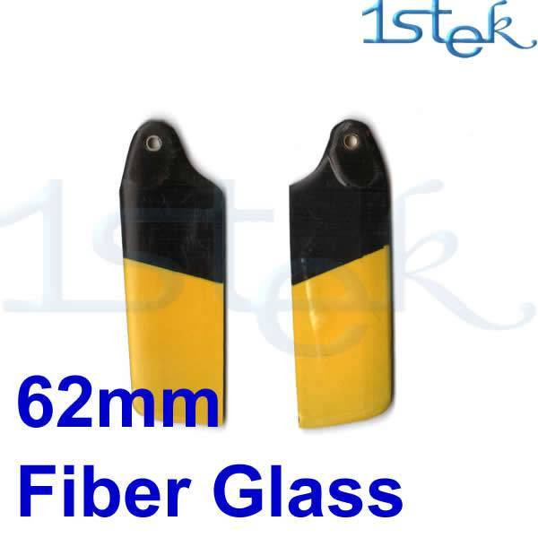 Fiber Glass Tail Blade Yellow and Black for Trex450v2 RC Helicopter spare parts
