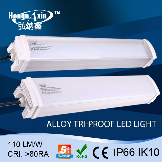 IP66 led Tri-proof lamps with Aluminum housing and PC cover 1500mm 80W,100W