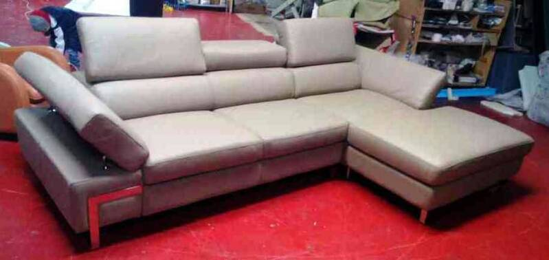 Modern sofa leather 6 ( 100% Made in Italy )