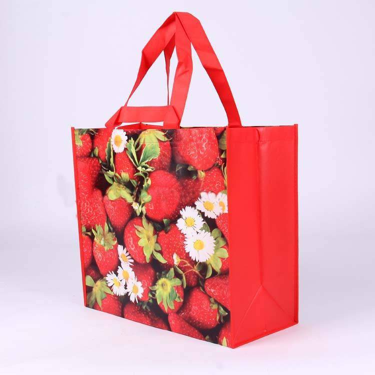 laminated non-woven shopping bag with fruit print