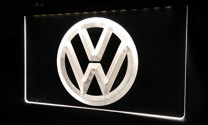 LS330-w Volkswagen-LED VW Car Logo Services Neon Light Sign