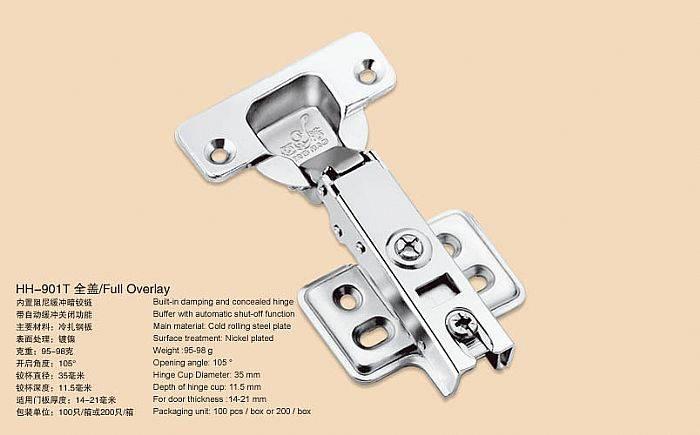 Hydraulic Slide on Cabinet Hinge /concealed hinge /furniture hardware(Built in soft-closing function