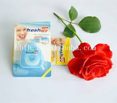 Fenghe fresh up triangle shape waxed soft dental floss