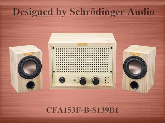 Classic Wooden Design Bluetooth Audio Amplifier with Speaker
