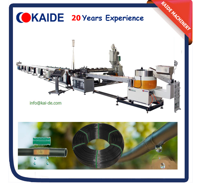 high speed round drip irrigation pipe production line for sale