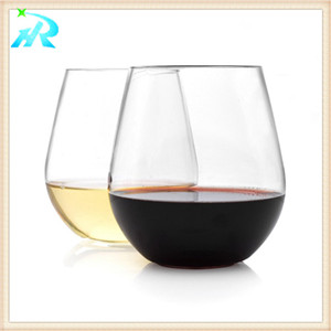 10 OZ Customized Plastic Riedel Wine Glasses Goblets