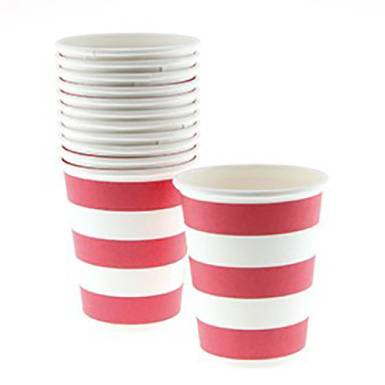 Wholesale colorful custom Red Candy Stripe Paper Cups