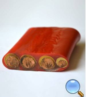 copper conductor rubber sheathed electrical wire flat cable