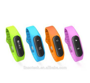 Smart Wristband  Band E06 Touch ScreenBracelet For Android 4.3 IOS 7.0 Waterproof Tracker Fitness Wr