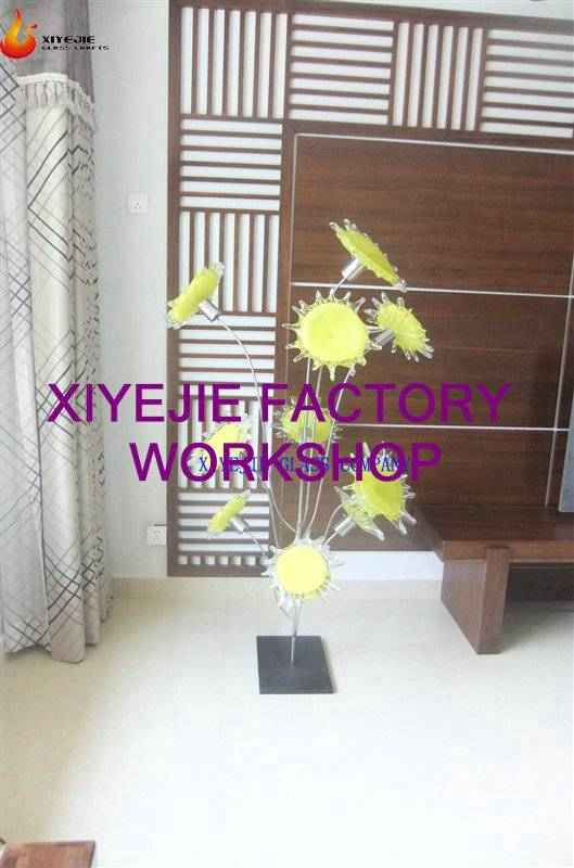 Modern large Villa outdoor garden hotel interior hall decorative hand made chihuly style handmade gl