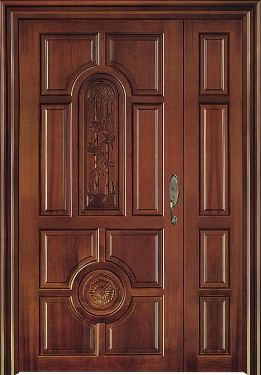 Wood Front Doors with Side Lite