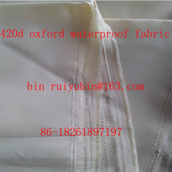 1200d oxford fabric pu coated fabric bag luggage