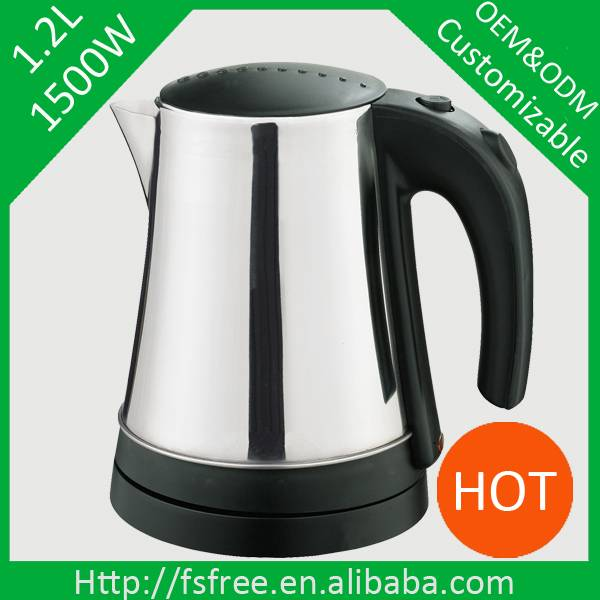 360 degree rotation stainless steel electric kettle