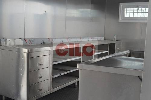 ISO 20'ft Modified Container for Fish Shop with Stainless Decoration