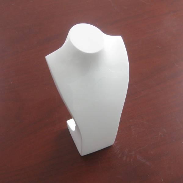 white jewelry display rack bust