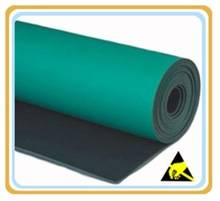 2 layers Smooth Cleanroom green ESD mat