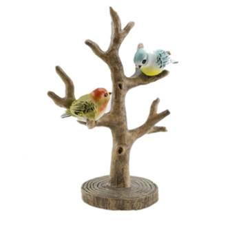 resin deco ornament birds on tree