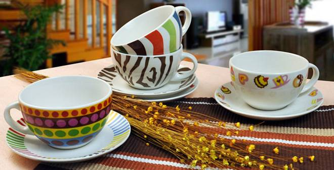 Custom Ceramic coffee Cup and saucer Manufacture
