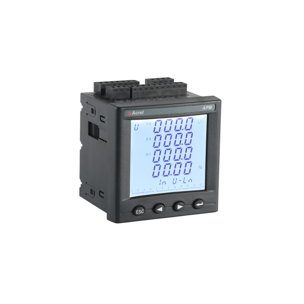 Acrel APM810 three phase panel harmonic energy metering with SOE records LCD display multi function