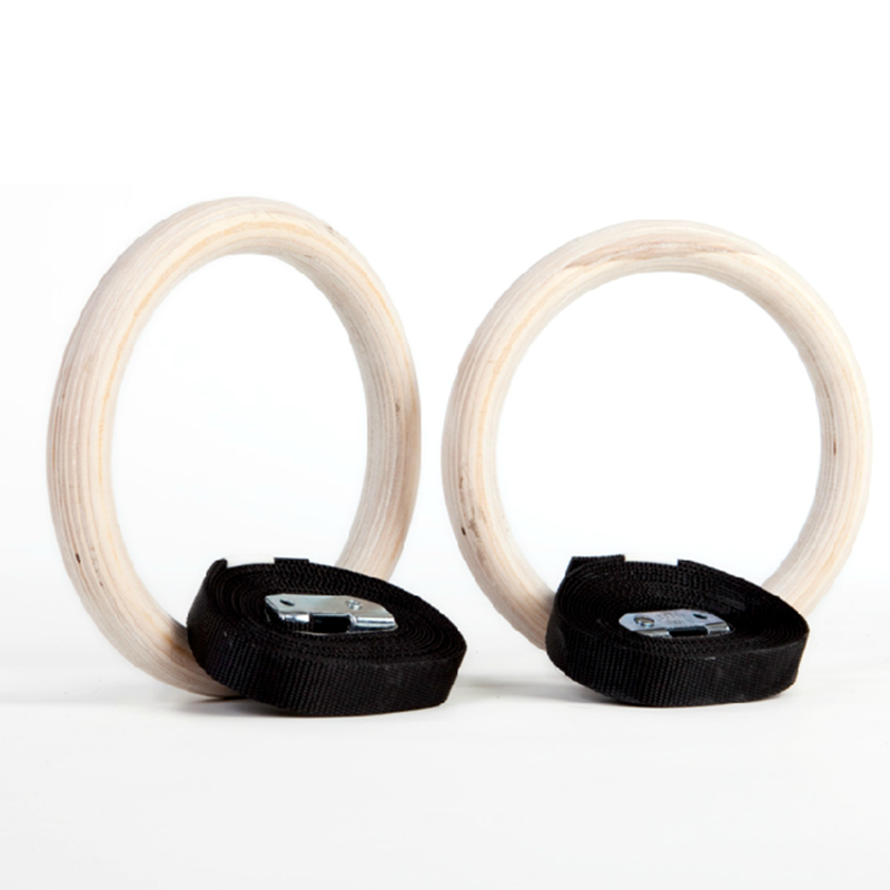 Wholesale Wooden Gymnastic Rings With White Box